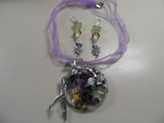 Amethyst Tree of Life with Garden Faery Jewelry by ArtsyTreasures, $20.00