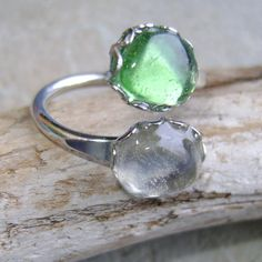 Items similar to Sea Glass Ring: Seaglass Jewellery on Etsy Sea Glass Ring, Sea Glass Jewelry, Druzy Ring, Gemstone Rings, Silver Rings, Jewellery, Unique Jewelry, Handmade Gifts, Stuff To Buy