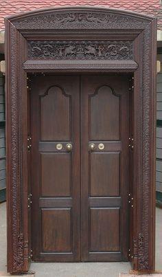 Wooden Main Door Design With Price Main Door Design Photos, Main Entrance Door Design, Wooden Front Door Design, Room Door Design, Door Design Interior, Wooden Doors, House Design, Front Design, Single Front Door Designs