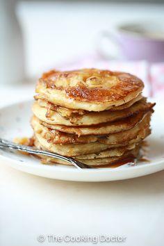 Mini Caramelised Banana Pancakes