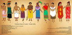 Postclassic Maya of Yucatan Set (Females) by Kamazotz.deviantart.com on @DeviantArt