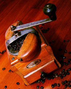Vintage Coffee Grinders - used to collect them.