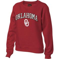 Oklahoma Sooners Women's Crimson Tackle Twill Crewneck Sweatshirt