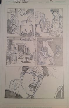 Original Pencil from Batwoman Annual, page 24 (April 2015) with Jason Blood. For sale. contact: rjviacava@gmail.com