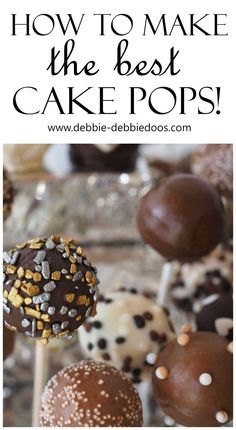 How to make the best cake pops ever. A cake pop is a form of cake styled as a lollipop. Cake crumbs are mixed with icing or chocolate,(typically) and formed into small spheres or cubes in the same way as cake balls, before being given a coating of icing, chocolate or other decorations and attached to lollipop sticks. Cake pops can be a way of using up leftover cake or cake crumbs.