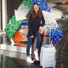 Ideas Sport Style Fashion Chic All Black For 2019 - Travel Outfits Cute Travel Outfits, Travel Clothes Women, Cute Outfits, Clothes For Women, Airport Travel Outfits, Comfy Travel Outfit, Winter Mode Outfits, Winter Fashion Outfits, Fall Outfits
