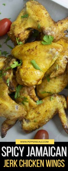 This Jamaican jerk wings recipe pairs these complex flavors with apple cider vinegar and orange juice to give your chicken wings an explosion of tang to the taste. It's a delicious mix.#jamaicanjerkchickenwings #jamaicanjerkchickenwingsrecipe #jamaicanjerkwingsrecipe #jerkchicken Healthy Baked Chicken, Baked Chicken Breast, Best Chicken Recipes, Lamb Recipes, Wing Recipes, Spicy Recipes, Meat Recipes, Jerk Chicken Wings, Spicy Steak