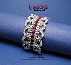 Tutorial pulsera de Giasone - patrón de abalorios