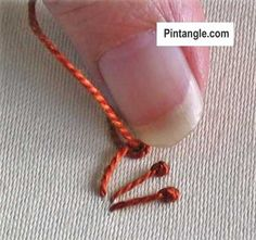 step by step tutorial for pistil stitch 4