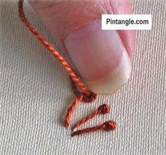 step by step tutorial for pistil stitch 4