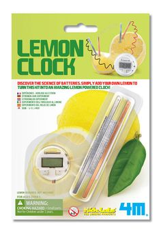 4M Lemon Clock by Toysmith - $4.95 CAN DUPLICATE KIT FOR MUCH LESS $$$