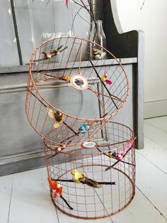Bird cage lamp pinning for reference if liz and i ever undertake copper bird cage light lamp shade chandelier by delury on etsy keyboard keysfo Choice Image