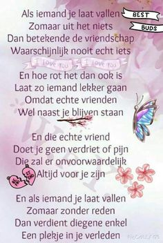 Teksten Bff Quotes, Text Quotes, Friendship Quotes, Words Quotes, Quotes To Live By, Sayings, Qoutes, Dutch Quotes, Lessons Learned In Life