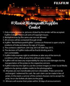 Terms & Conditions of #RevisitHistorywithFujifilm Contest