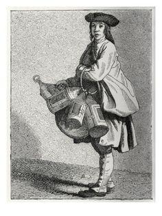 a lantern seller in 18th century Paris, France, William Hole
