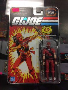 G.I.joe 25th Anniversary Cobra Red Ninja Code Name:The Enemy