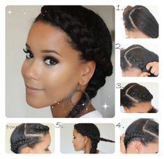 Natural Hair Tutorial | Side Braid
