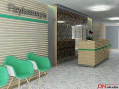 BRISTOL ART & SPA Sanatorium in Busko Zdroj, Poland. Design and Rendering of a waiting room.
