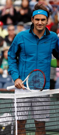 Roger Federer and his Wilson Pro Staff 90 tennis racket