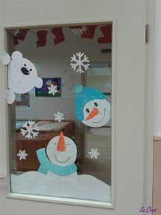 Tipss and templates: Christmas 2019 Christmas decorations, Christmas crafts, preschool, art activities - Weihnachten Christmas Crafts For Kids, Christmas Art, Winter Christmas, Holiday Crafts, Christmas 2019, Christmas Ideas, Decoration Creche, Christmas Window Decorations, School Door Decorations