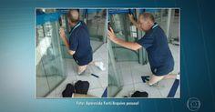 Deficiente retira prótese da perna após ser barrado na porta de banco em SP