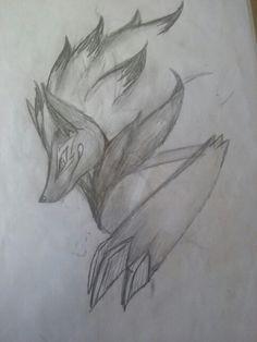 Zoroark pencil sketch Zoroark Pokemon, Charizard, Drawing Sketches, Pencil Drawings, Drawing Ideas, Lugia, What To Draw, Furry Art, Tribal Tattoos