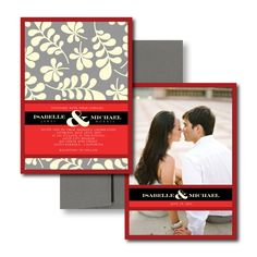 Grey Wedding Invitations, Red Wedding Invitations