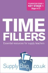 Time Fillers for supply teachers, essential resources for supply teaching