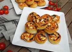 Feta - Spinat - Pizzaschnecken │ nurmalkosten.com