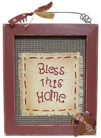 Bless This Home Framed Sampler