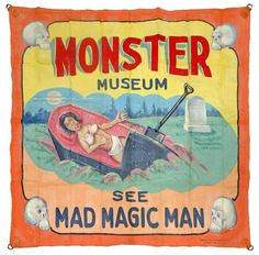 Fred Johnson Circus Banner - Monster Museum