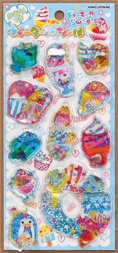 kawaii ice cream cones water capsule sticker 2
