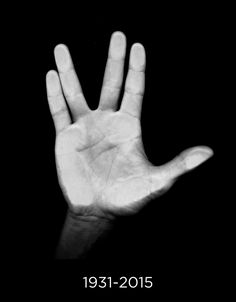 """Goodbye to my favorite science officer. Leonard Nimoy, who played Spock on the original Star Trek series, died today. Nimoy invented the Vulcan salute himself. He was inspired by the..."