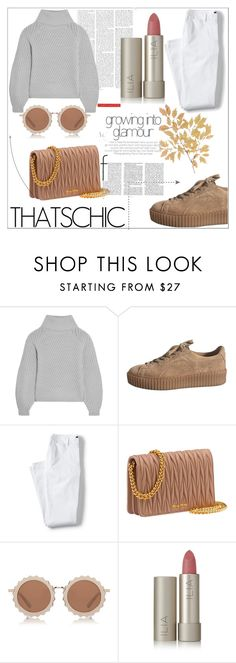 """""""Untitled #28"""" by edithhlatshwayo on Polyvore featuring Iris & Ink, Lands' End, House of Holland, Ilia, chic, grey, brown and cosysweater House Of Holland, Lands End, Iris, Brown, Polyvore, Shopping, Brown Colors, Bearded Iris, Irises"""