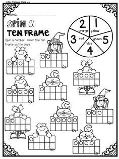Halloween Activities for Kindergarten Math and Literacy No