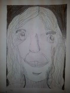a portrait from Monday's art club age 7-9