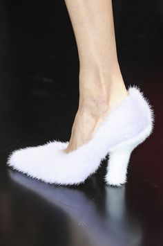 Wow, what is it with fuzzy shoes?  Fuzzy-wuzzy was a LOLwut?  [Céline Spring 2013]