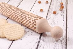 MADE BY.... – personalized embossing rolling pin & FREE cookie stamp