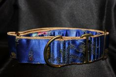 "2"" Silk Martingale Dog Collar by www.qbcollars.com"