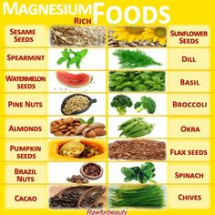 magnesium rich foods additional link : http://www.vaughns-1-pagers.com/food/magnesium-foods.htm