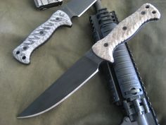 Miller Bros. Blades (MBB) M-5 Fixed Blade Tactical knife 5/16in thick fighting knife/gear knife. Custom Handmade Swords, Knives & Tomahawks/Axes http://www.millerbrosblades.com/