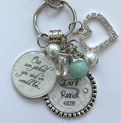 Future DAUGHTER in LAW GIFT, personalized bride to be Our son picked you and we would too wedding date last name bride and groom keychain key chain necklace ** Learn more by visiting the image link.