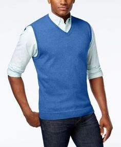 Autumn and winter geometric patterns Men's V-neck sweater vest ...