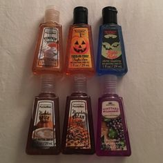 Set Of Six Unopened Pocketbac Sanitizers - Autumn Scents include Pumpkin Cupcake, Trick-Or-Treat Pumpkin Spice, Night Fright Electric Raspberry, Pumpkin Spice Latte, Pumpkin Pecan Waffles, and Vineyard Wildberries. For sale at $4 each. Comment which scent you are interested in and I will create a separate listing for you. Bath & Body Works Makeup