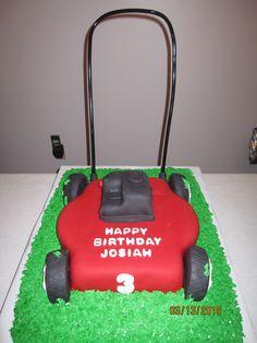 Push Lawn Mower Birthday Cake