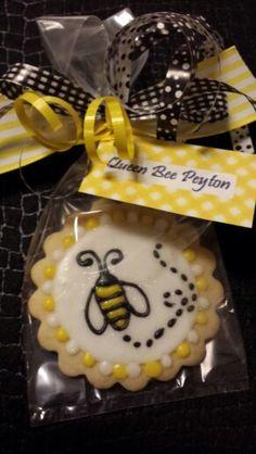 Queen Bee Sugar Cookie Birthday Favor