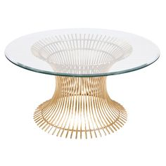 Worlds Away Powell Gold Leaf Coffee Table @Zinc_Door