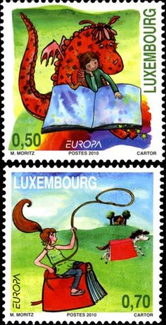 Luxembourg - Europa 2010 Children's books stamp Love the fact that this was posted by Byungsoo Chae!