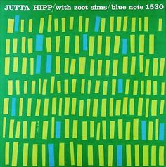 "jazz music cover graphic design Jutta Hipp with Zoot Sims   Label: Blue Note 1530   12"" LP 1956   Design: Reid Miles"