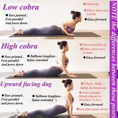 Right way to cobra pose of yoga! Right way to cobra pose of yoga! Kyra Laumen kyralaumen Fitness How to do better of cobra pose? Ashtanga Yoga, Yoga Bewegungen, Hatha Yoga Poses, Yoga Flow, Upward Dog, Upward Facing Dog, Downward Dog, Body Challenge, Workout Routines